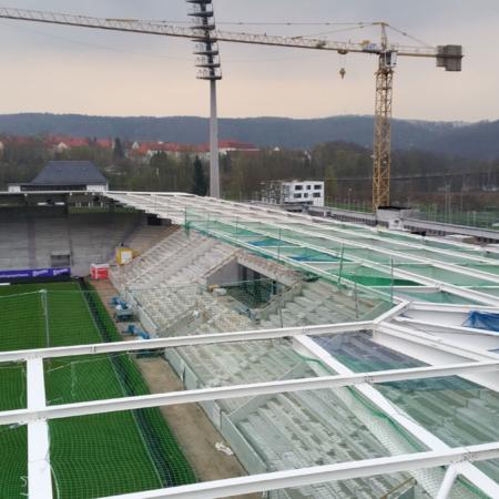 Dach Stadion FC Aue